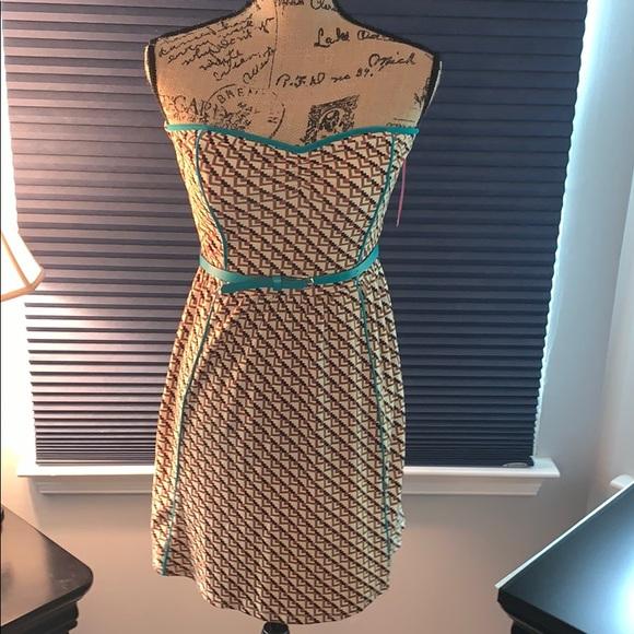 Xhilaration Dresses & Skirts - Xhilaration Aztec style strapless dress with belt
